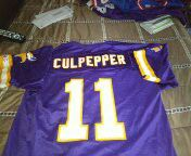 Vintage champion Vikings culpepper jersey excellent condition size 40 for Sale in Philadelphia, PA