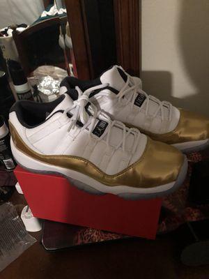 38419f95efad6c 6.5 JORDAN GOLD WHITE RETRO 11 LOW CLOSING CEREMONY for Sale in Lakeland