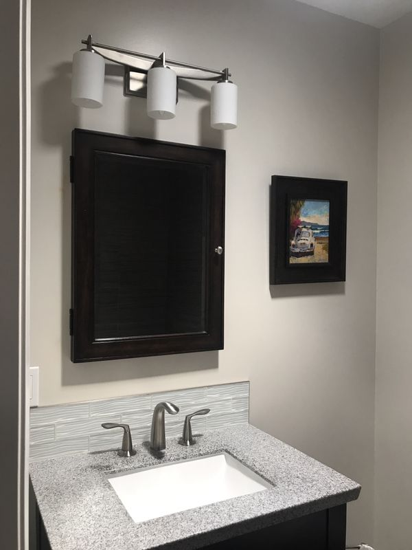 Bathroom vanity set ! Mirror with cabinet, faucet, lights ...