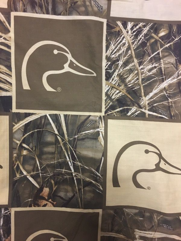 Ducks Unlimited Shower Curtain With Hooks