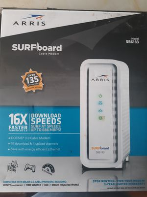 Surfboard cable modem, 16 X faster, New for Sale in El Paso, TX