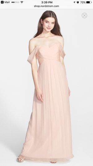 Gently Worn just once, beautiful light blush formal gown for homecoming, military ball or other formal event for Sale in Arlington, VA