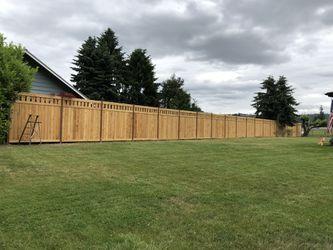 Simple cedar fences 18+$ per foot. Labor + material Thumbnail