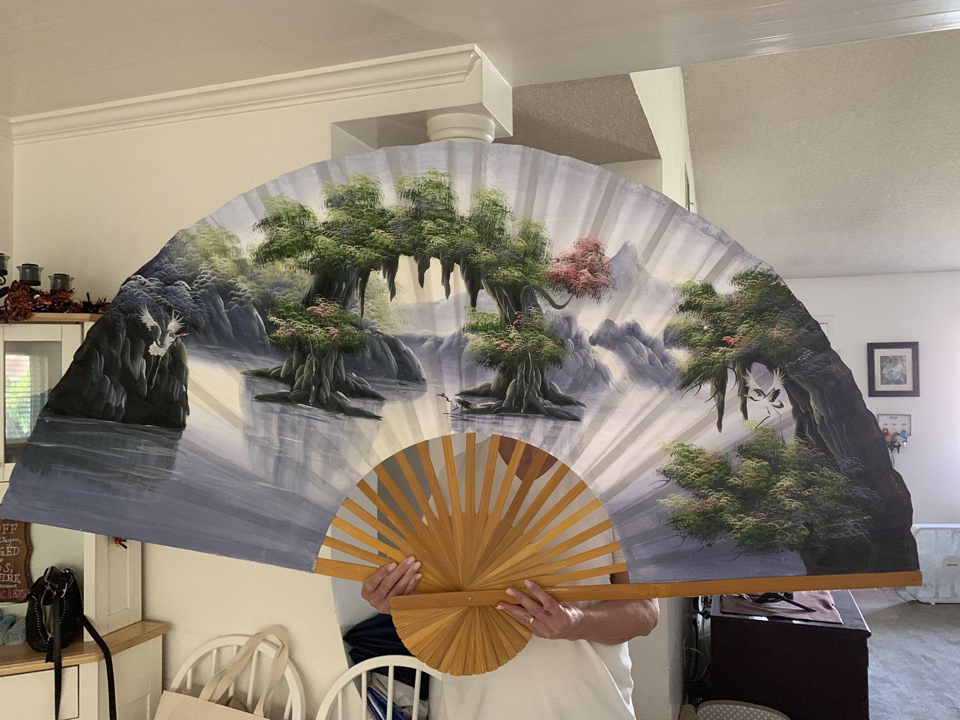 Hand painted fan art