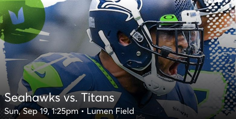 Pair of Seahawks  Tickets 9/19