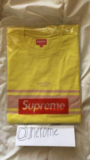 Supreme Stripe Tee (Dark Yellow) for Sale in Las Vegas b35aa075d2d6