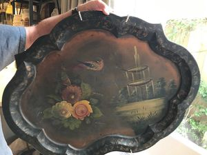 Hand Painted Told Ware Tray for Sale in Houston, TX