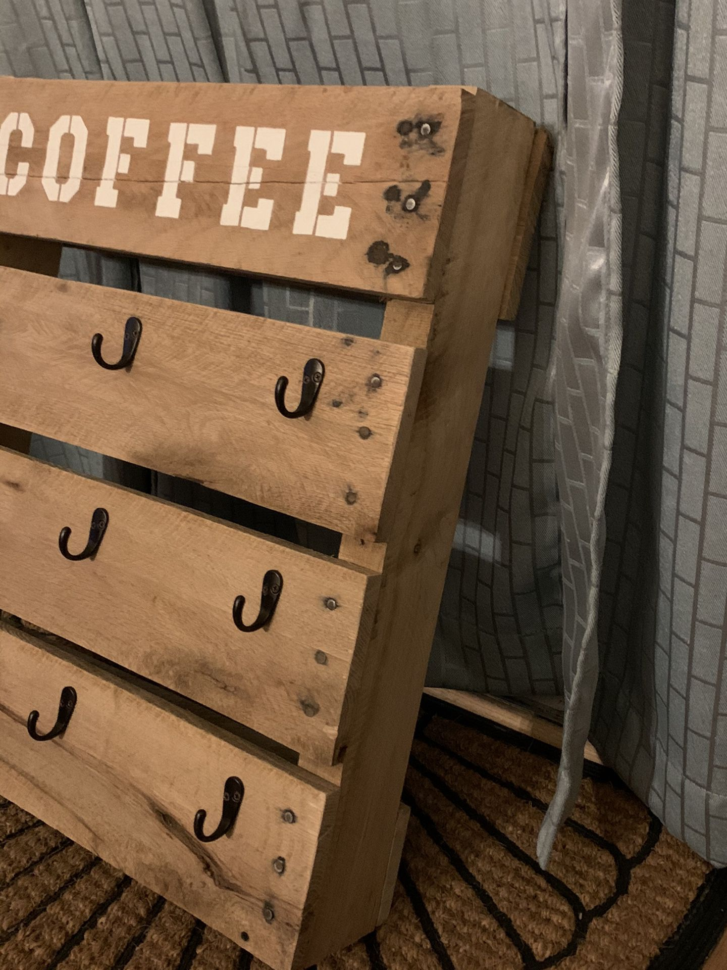 Homemade 9 cup coffee cup holder
