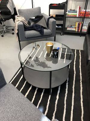 Modern round glass coffee table for Sale in Portland, OR