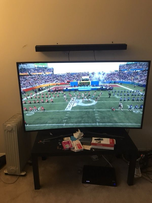 55 inch Samsung 4k curve tv just in time for the big game go eagles ...