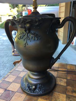 Elaborate Ceramic table lamp. Unique acorn design. for Sale in Gig Harbor, WA