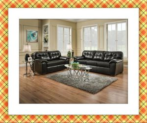 Black sofa and love seat Simmons leather for Sale in Temple Hills, MD