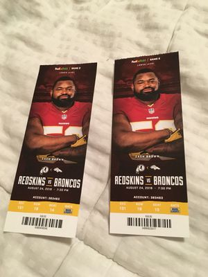 Redskins Tickets for Sale in Fairfax Station, VA
