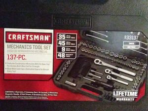 Photo ,RAND New CRAFTSMAN MECHANICS TOOL SET 137 -PC 933137