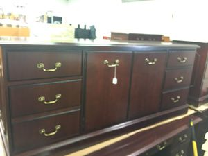 Brown Wooden Lowboy Dresser for Sale in Herndon, VA