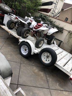 Photo 2007 Yamaha raptor 660 and raptor 350 with trailer.