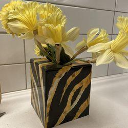 Tiger Print Tissue Box/Decor/Vase  Thumbnail
