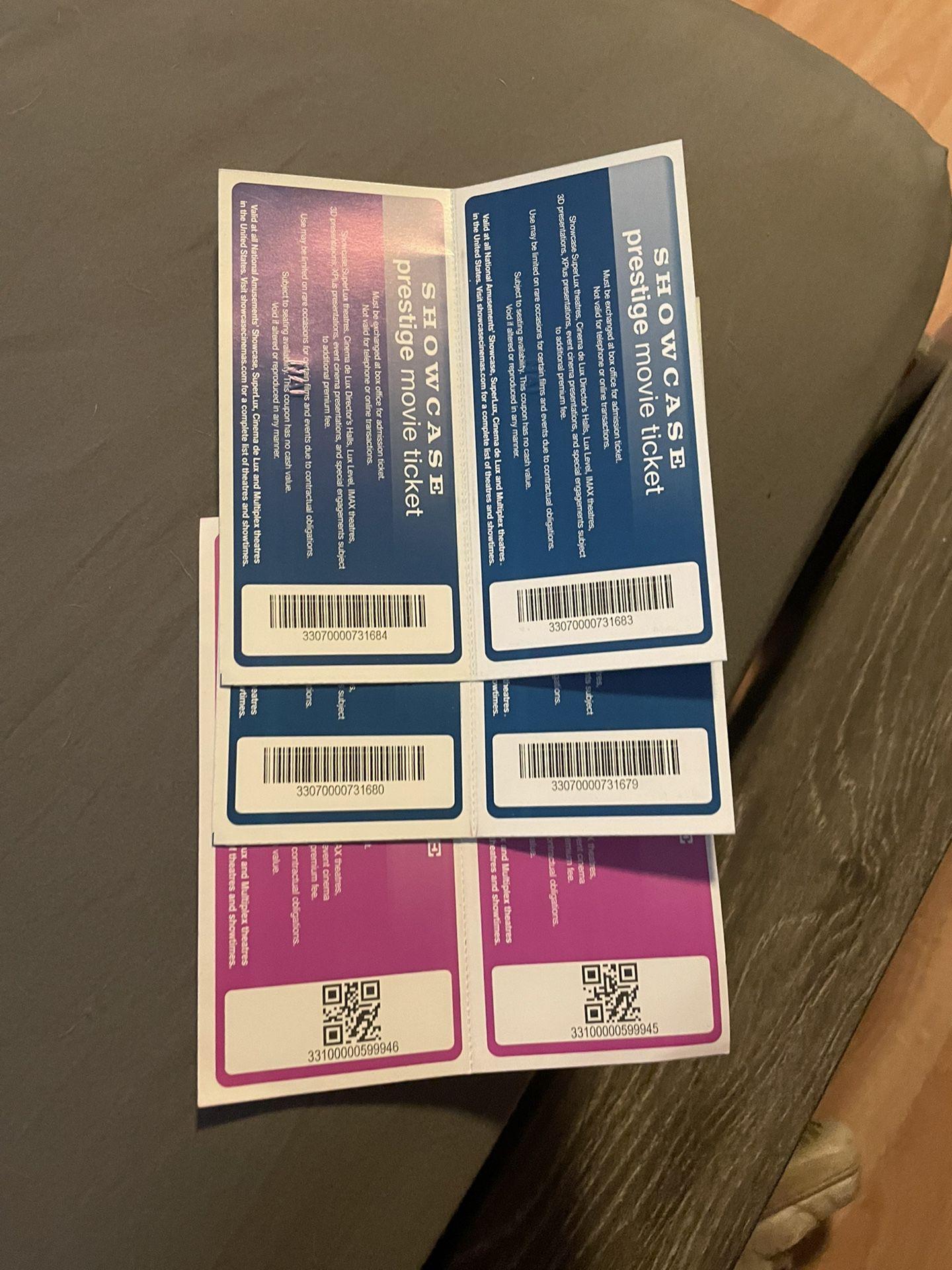 6x Showcase Cinema Tickets