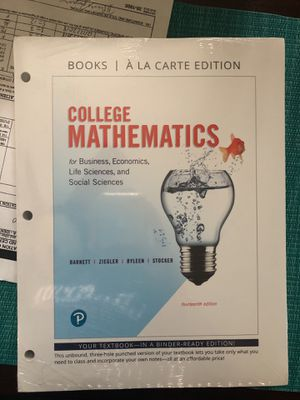 College Mathematics 14th edition New for Sale in Houston, TX