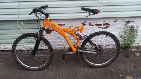1999 specialized ground control fsr full suspension alumium 26 inch bike  frame size 18 for Sale in Bridgeport, CT - OfferUp