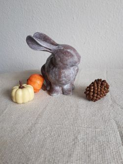 Adorable Little Fall Winter Ceramic Bunny  Thumbnail