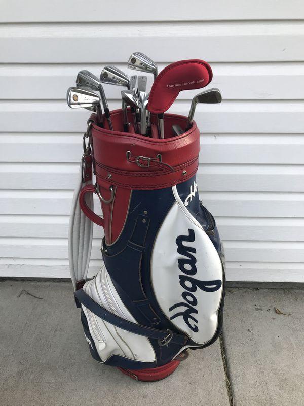 Vintage Ben Hogan Leather Golf Bag