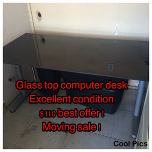 Glass computer desktop... Excellent condition! Only $100 obo for Sale in San Diego, CA