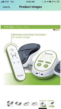 Beurer Vital Legs EMS Circulation Stimulator, FM250   Revitalizing Electrostimulation - Impulse Massage   Improve Blood Circulation in Legs While Sitt Thumbnail