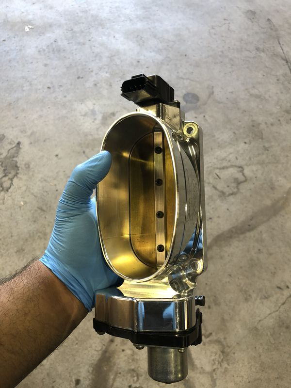 Ford racing cobra jet monoblade throttle body for 2011 and up mustang for  Sale in Saratoga, CA - OfferUp