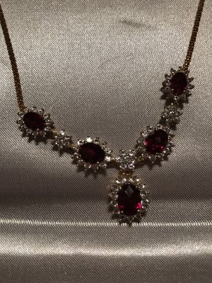 Garnet Earrings and matching necklace. for Sale in Las Vegas, NV