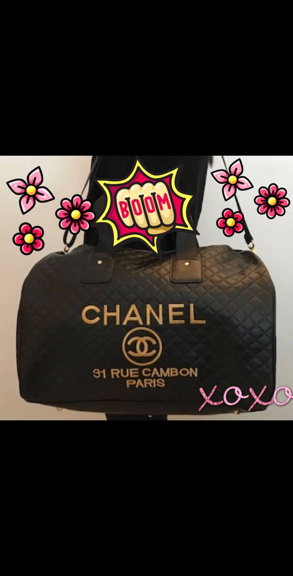 2185789017b66e AUTHENTIC Chanel VIP Precision gift Duffel Cambon Quilted Black ...