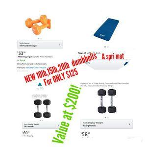 New dumbbell 0.35 per Pound Buy new mats for $5 bulk buy only $100+ for Sale in Houston, TX