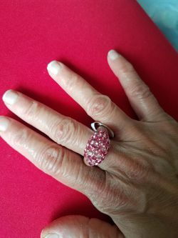 Acrylic plastic diamond ring Thumbnail