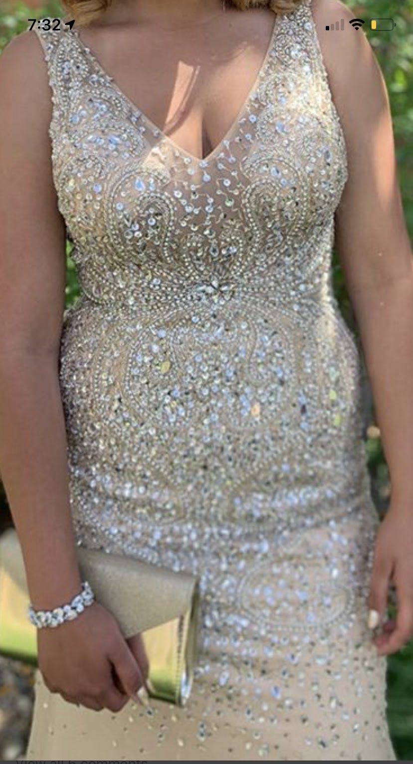 Prom dress with clutch