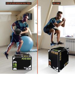 Soft Plyo Box With Wood Core 24/20/16  STURDY AND STABLE Thumbnail