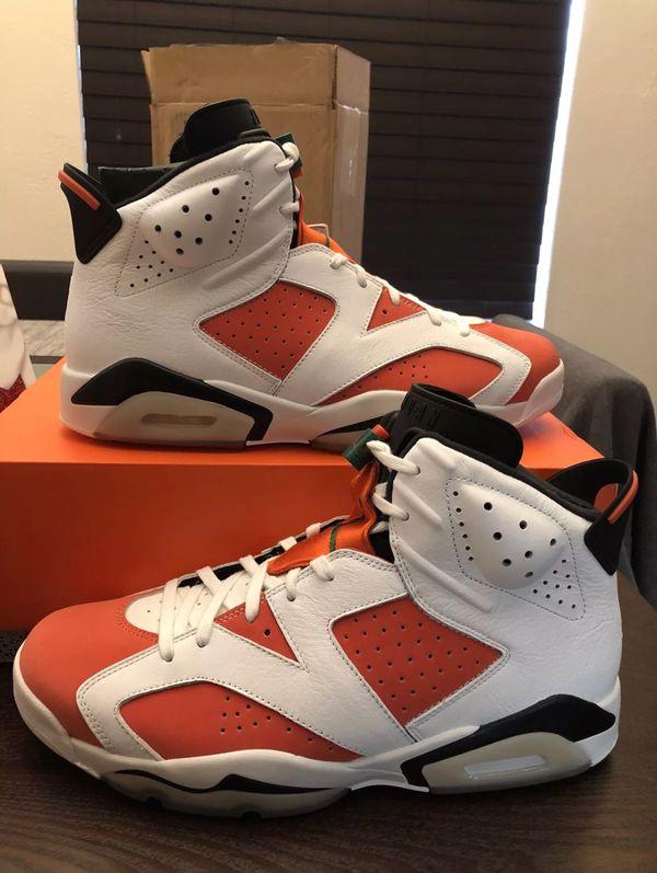 d99417ab39ac Men s Nike Air Jordan VI 6 Retro Gatorade Like Mike 384664-145 Summit White    Team Orange   Black Size 12 Shoes NEW w  Box
