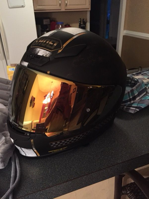 017d008e112 Shoei RF-1200 helmet with gold tinted pinlock visor for Sale in Chesapeake,  VA - OfferUp