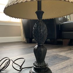 Lamp with Polynesian style shade and pineapple Thumbnail