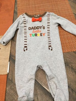 Baby first thanksgiving jumpsuit for Sale in Dallas, TX