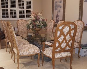 Naples Fl Baer S Furniture Dining Set Like New 94 X 56 Table 8