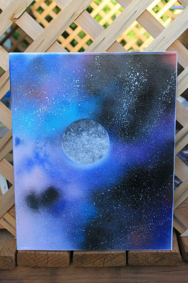 Colorful Galaxy Spray Paint Art Canvas For Sale In Bremerton Wa Offerup