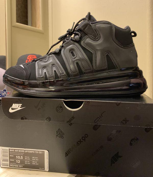 buy popular c3633 fc0af Nike More Uptempo 720 Triple Black
