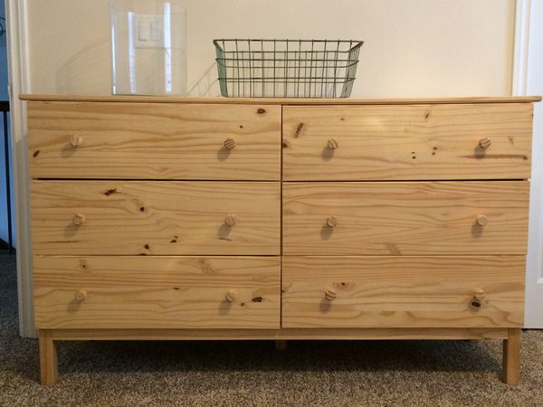 6 Drawer Chest Pine Ikea Tarva