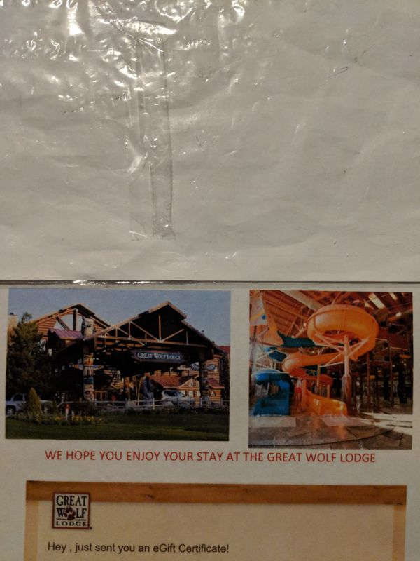 300 Gift Certificate To Great Wolf Lodge For Sale In Massillon Oh