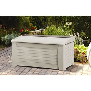 Suncast 127 Gallon Light Taupe Resin Storage Seat Deck Box DB12000 for Sale in Houston, TX
