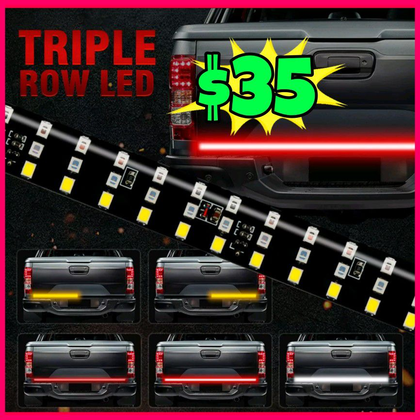 Photo NEW 3X BRIGHTER TRUCK TAILGATE LED STRIP 3RD BRAKE LIGHT! 5 SIGNAL FUNCTIONS