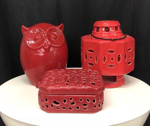 Red home decor for Sale in Cleveland, OH