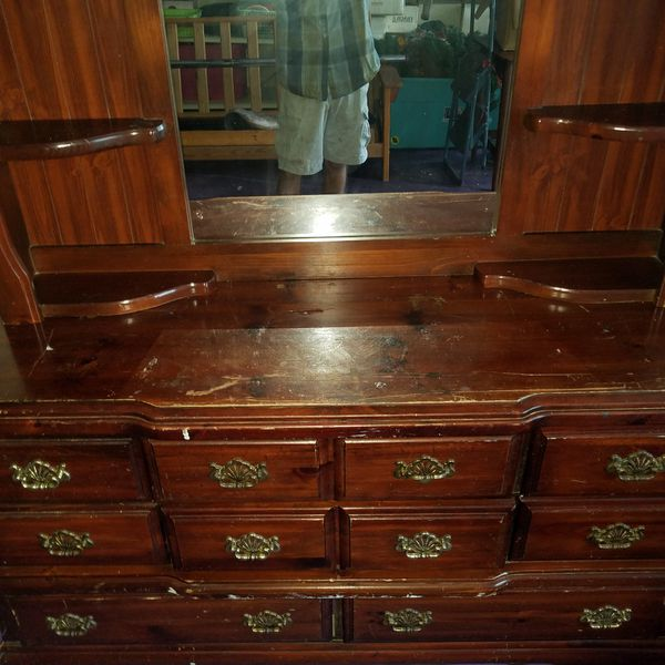 4 Piece Solid Wood Bedroom Set Project Set For Sale In