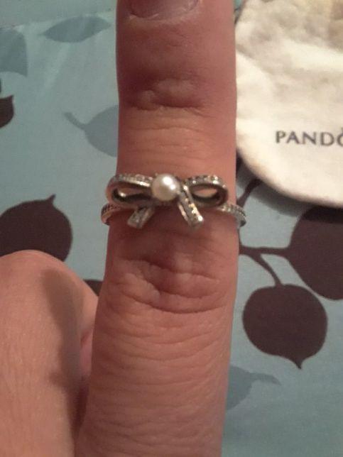 60dc27c59 2 Beautiful silver Pandora rings w/ diamonds need a good home for ...