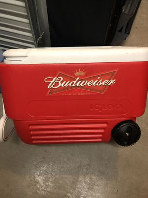 Budweiser igloo cooler for Sale in Chantilly, VA